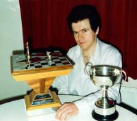 The British Postal Chess Team Championship and the British Championship trophies